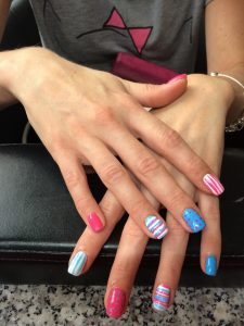 Gel nails met nail art. Nail Salon MB. Nagelstudio Amsterdam